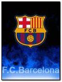 fc barcelona logo fire