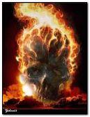 Kafatası-yangın animasyon