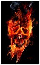 燃烧的头骨