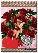angel in roses