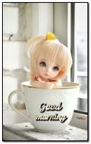 Cute doll in a cup