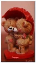 ours en peluche et coeur