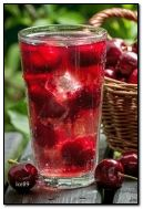 Cold cherry drink