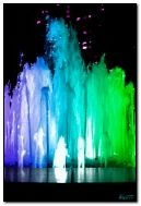 multicoloured fountain