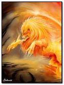 Anim do leão do fogo