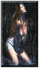 Dziewczyna w deszczu