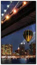 Balão debaixo de uma ponte