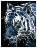 Tiger With Neon Effect