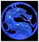 Mortal Kombat Logo Blue
