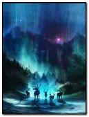raindeer aurora