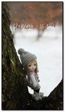 دمية لطيف في الثلج