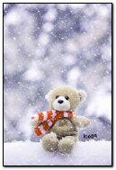 Teddybear w śniegu