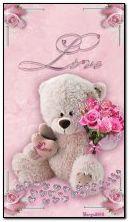 ours en peluche et fleurs