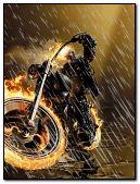 Ghost rider on rain