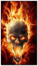 火のような頭蓋骨