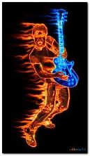 Burning guitare 360?640