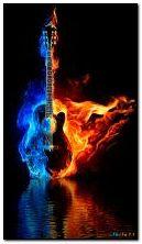 Gitar menyala