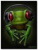 Frog-music fan