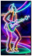 Neon guitarist