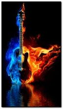 burning guitar ?