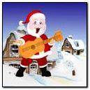Santa Dancing With Guitar