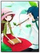 boyfriend play the flute and girlfriend listening
