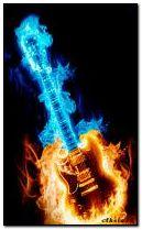 Blazing guitar