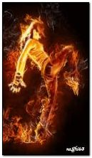 ateş dansçısı