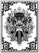 Балі маска баронг балійская