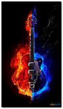 Gitarre in Brand