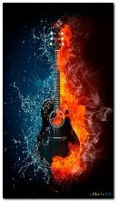 The guitar. Fire and water
