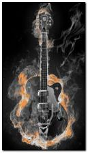 Animated Burning Guitar
