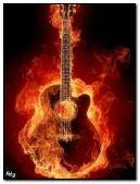 Fire guitare