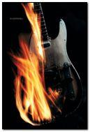 guitarra de fogo