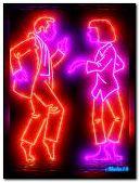 Neon dance.