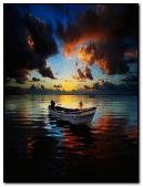 boat at sea.