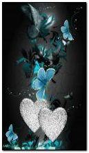 hearts butterfly