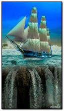 Sailing vessel and falls