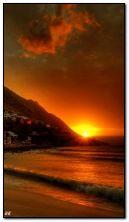 морской восход солнца