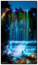 неонові водоспади