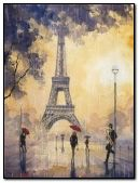 rainy day at paris.