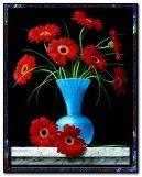 花瓶里的红色花