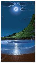 القمر والبحر