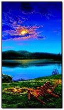 ตอนเย็นที่ทะเลสาบ