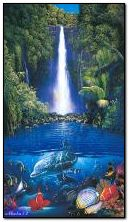 Waterfall and Dolphins