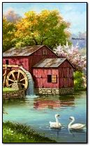Old mill by springtime