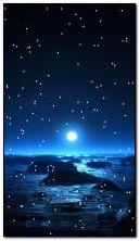malam yang indah dan cahaya bulan