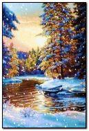 Inverno nei boschi