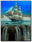 Sailing vessel and falls