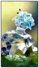 bunga dalam botol